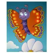 Schilderij Vlinder met Led Verlichting