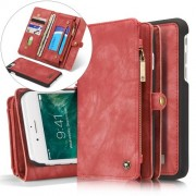 CASEME notesz telefontok Apple iPhone 7 PLUS telefonhoz - PIROS