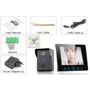 Intercom Video Sans Fil - Moniteur 9, Sans Fil, Vision Nocturne 2-5m, 300m de portee, alarme de protection, 16 melodies