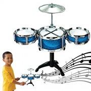 Dazzling Toys Blue Desktop Drum Set Musical Instrument Toy Playset Rock on Drums