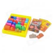 IQ Car Traffic Jam challenges Kids Intelligence Toys - Multicolored