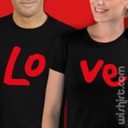 Conjunto de 2 t-shirts Love