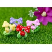 Generic 10pcs Miniature Mushroom Bushes Dollhouse Bonsai Garden Resin Landscape - red