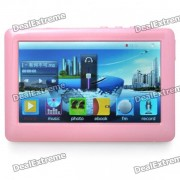 """Portable 4.3"""" Touch Screen Multi-Media Player w/ FM / 3.5mm Jack / TV-Out / TF Slot - Pink (4GB)"""