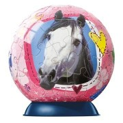 Ravensburger Horses With Glitter 60 Pc Puzzleball Grey Horse