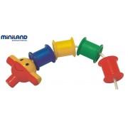 Joc de indemanare cu bobine Miniland