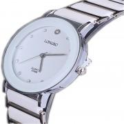 LONGBO Luxury Ceramic Water Resistant Watch Sports Women Wrist Watch,Free Shipping Top Rhinestone Steel Lady watches 8396