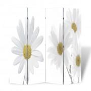 vidaXL Параван за стая с принт 160 х 180 см, мотив цветя