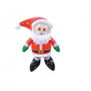 (4) Inflatable Santas ~ 24 Tall CHRISTMAS SANTA CLAUS Inflate ~ FOUR (4) Fun Holiday Decor ~ Christm