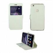 Huawei Etui Rabattable Blanc Avec Ouverture Ecran pour Huawei P8 Lite 2017