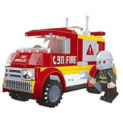 Fire brigade special fire truck 96pc ausini Educational Building Blocks Set Compatible to Lego Parts - Best Gift for Boy