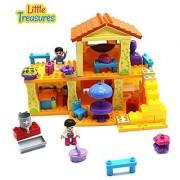 Little Treasures Family Home Building block 85 pc Duplo compatible toy set for 3+ preschooler kids creative build & crea