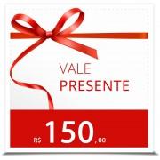 Vale Presente R$ 150,00 (1 espartilho completo)