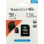 Card de Memorie Team Group microSDXC 128GB Clasa 10 + Adaptor SD
