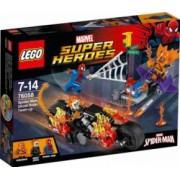 LEGO SUPER HEROES - SPIDER MAN ALATURAREA FORTELOR CALARETULUI FANTOMA 76058