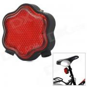 Flower Shaped 7-Mode 7-LED Red Light Bike Laser Tail Lamp w/ Mount Holder - Red + Black (2 x AAA)