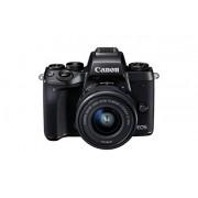 Canon EOS M5 Mirrorless Camera with Canon EF-M 15-45 Lens+ Free Canon Mount Adapter EF-EOS M - Black