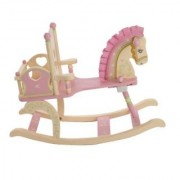 Levels Of Discovery Rock-A-My-Baby Rocking Horse Pink/Cream