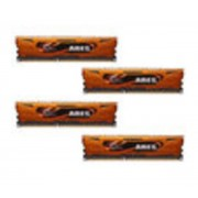 Ares Orange Series 16 Go (4 x 4 Go) DDR3 1333 MHz CL9, Kit Quad Channel DDR3 PC3-10600 F3-1333C9Q-16GAO par G.Skill)