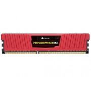 Corsair Vengeance LP - Kit de memoria RAM de 8 GB (DDR3, 2x 4 GB, 1600 Mhz, CL9, 240-Pin DIMM), color rojo (CML8GX3M2A1600C9R)