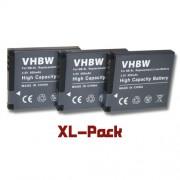 3 x batterie Li-Ion 600mAh (3.6 V) pour Canon série Powershot, par ex. A2200, A3000, A3100, A3200, A3350is, etc. Remplace la batterie originale NB-8L