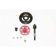 Axial SMT10 Grave Digger (AX90055) & MAX-D (AX90057) Upgrade Parts Aluminium Spur Gear Adapter+Steel Gear 56T - 1 Set Red