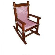 Baby Doll Bedding Crocodile Junior Rocking Chair Pad Pink