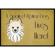 Caroline's Treasures Pomeranian Spoiled Dog Lives Here Mat BB1455JMAT / BB1455MAT