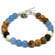 Heaven Eleven heren armband Natural Stones MB20-22cm