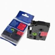 Brother TZ-431 / TZe-431, 12mm x 8m, černý tisk / červený podklad kompatibilní