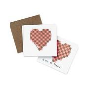 Mod Heart Favor / Place Cards