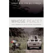 Whose Peace? by Sarah B. K. Von Billerbeck