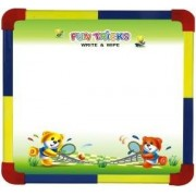 toyztrend educational fun writing board 2 in 1 small for kids to write and learn their preschool lessons with chalk and marker