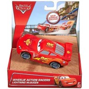 Toy - Disney Cars Wheelie Action Racers Lightning McQueen by Mattel
