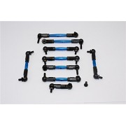 Tamiya TB04 Upgrade Parts Aluminium Steering & Push Rods - 9 Pcs Set Blue