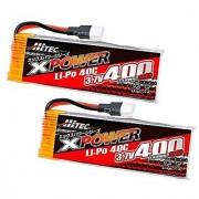 HITEC XPOWER Li-Po 3.7V 400mAh 40C Twin Pack (BL) XP480166W