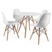 Table Eames WDW et 4 chaises