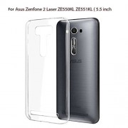 ShiningZon Soft Silicone TPU Transparent Crystal Clear Soft Back Case Cover For Asus Zenfone 2 Laser ZE550KL (5.5 inch)