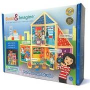 Build & Imagine: Pet Portrait Studio (magnetic building set with wooden dress-up pets)