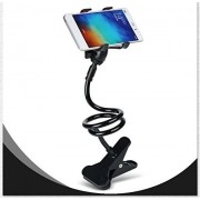 "keweetech- Unique Portable Foldable Universal Flexible Mobile Holder Lazy Stand For Apple / Samsung / HTC / Sony and Other Phones Upto 6"" Black (Colors May Vary)"