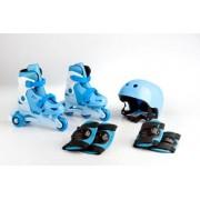 Kolieskové korčule TRISKATE SET - modrý + Detské plavecké okuliare ZADARMO !