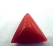 4.50 Carat Natural Italian Triangle Red Coral Moonga Gemstone