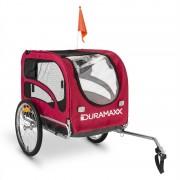 DURAMAXX King Rex Remolque para bicicletas para perros 250l 40kg acero rojo