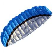 Imported 2.5m Outdoor Toys Dual Line Parafoil Parachute Stunt Sport Beach Blue Kite