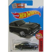 ASTON MARTIN 1963 DB5 Hot Wheels 2016 Then and Now Series Black Classic Aston 1:64 Scale Collectible Die Cast Metal Toy Car Model #1/10 on International Long Card