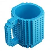 DIY creativo Building Block Puzzle Taza - azul