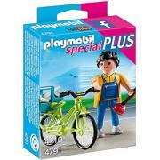 PLAYMOBIL Handyman with Bike Building Kit