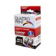 Pack Quattro Print Canon PGI540XL CL541XL 2 cartouches compatibles