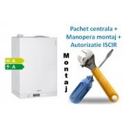 Pachet centrala condensatie cu boiler incorporat Viessmann Vitodens 111 W - 35 KW cu manopera montaj si autorizare ISCIR