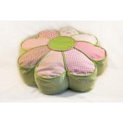 Dekorativni jastuk Cvet Zeleni roze Ø50X17cm